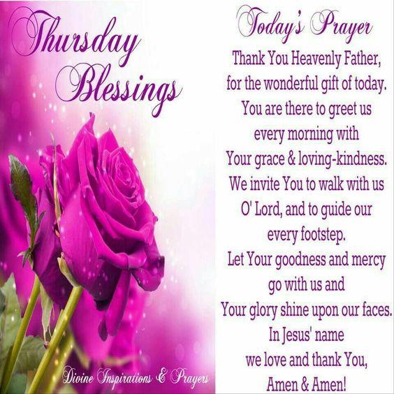 Thursday Blessings Prayers