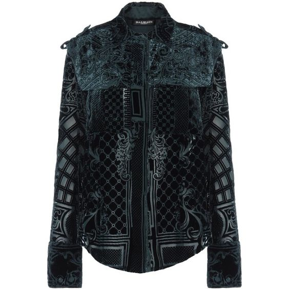 BALMAIN Long sleeve shirt ($1,198) ❤ liked on Polyvore