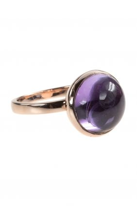 rose gold plated amethyst #ring I designed for NEW ONE I NEWONE-SHOP.COM