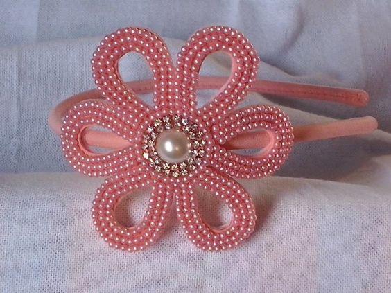 Enfeite De Tiara ~ by luciene borges tiara flor perola e strass para encomendas clique na imagem Mimos de