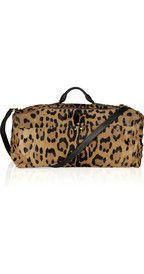 Jérôme Dreyfuss Richard animal-print calf hair duffle bag
