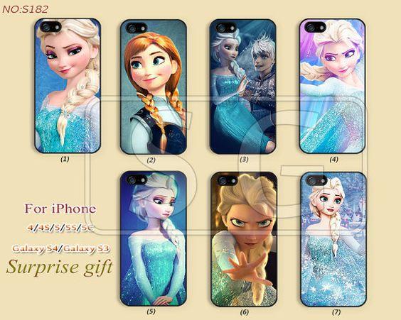 Disney congelati casi cellulare, iPhone 5 Case, 5S / 5C maiuscole, iPhone 4/4S caso, Samsung Galaxy S4 caso iPhone, Galaxy S3 Disney princess - S182 on Etsy, 6,76€