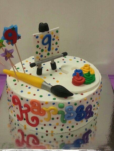 Art themed cake everything is edible sassycakes for Cake craft beavercreek ohio
