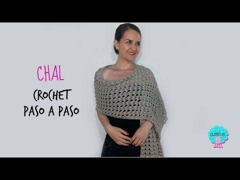 Como Aprender A Tejer Crochet Para Principiantes Aprende Paso A Paso A Tejer Un Lindo Chal Rectangular O Rebozo A