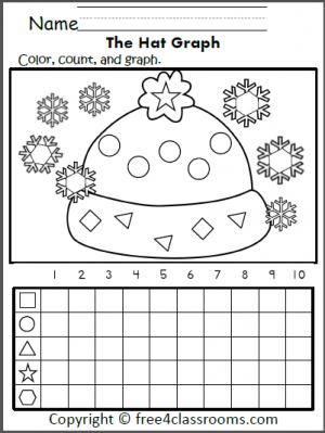 free shape graphing winter hat mitten color count and graph teacher ideas pinterest. Black Bedroom Furniture Sets. Home Design Ideas
