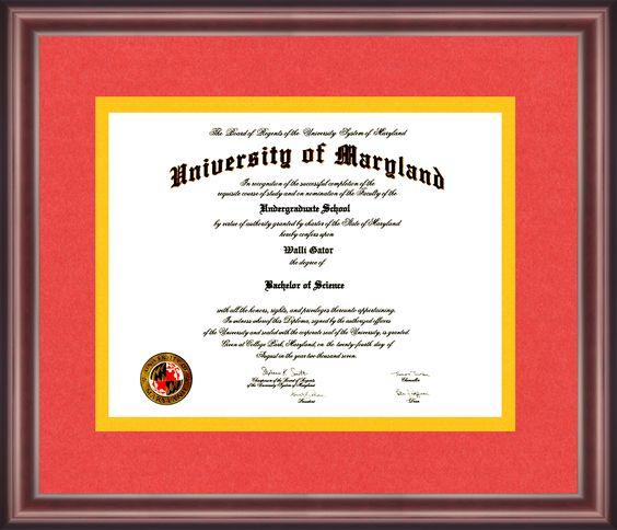 University Of Maryland Diploma Frame Talking Walls Diploma Frame University Of Maryland Maryland School