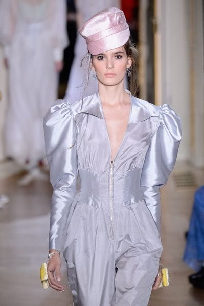 A model walks the runway during the Ulyana Sergeenko Spring Summer 2016 show as part of Paris Fashion Week on January 27, 2016 in Paris, France.