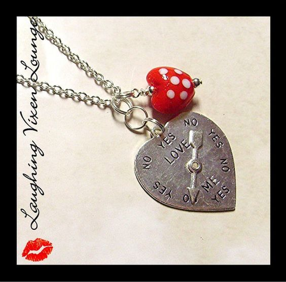 Valentine Jewelry  Valentine Necklace  by LaughingVixenLounge, $18.00