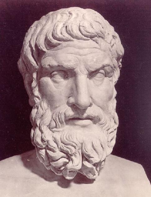 Inferno, 6e kring, Canto X, het grafveld met met brandende open graven, waarin ketter liggen. Epicurus (341 v.Chr. - 270 v.Chr.) was een Grieks filosoof.  Waar het om gaat in de filosofie is het persoonlijk geluk, volgens Epicurus het hoogste goed in het menselijk leven.  Bekijk de originele afbeelding