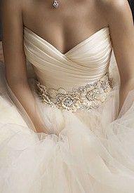 hermoso detalle para un vestido de novia