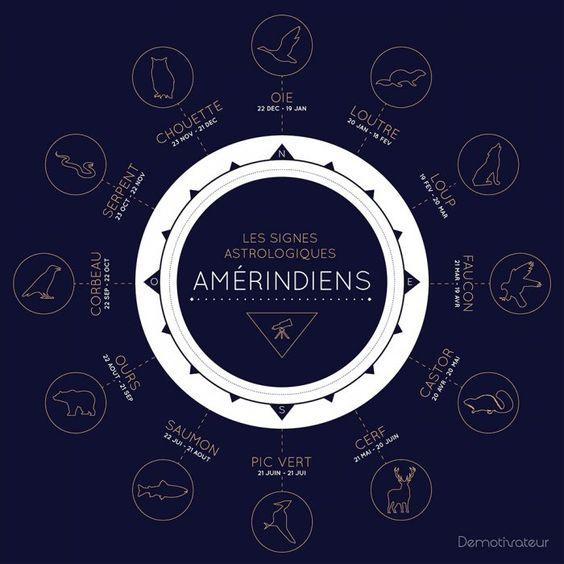 Voici les signes du zodiaque Amérindien, et leur signification profonde... Et vous, que révèle votre animal sur vous ?