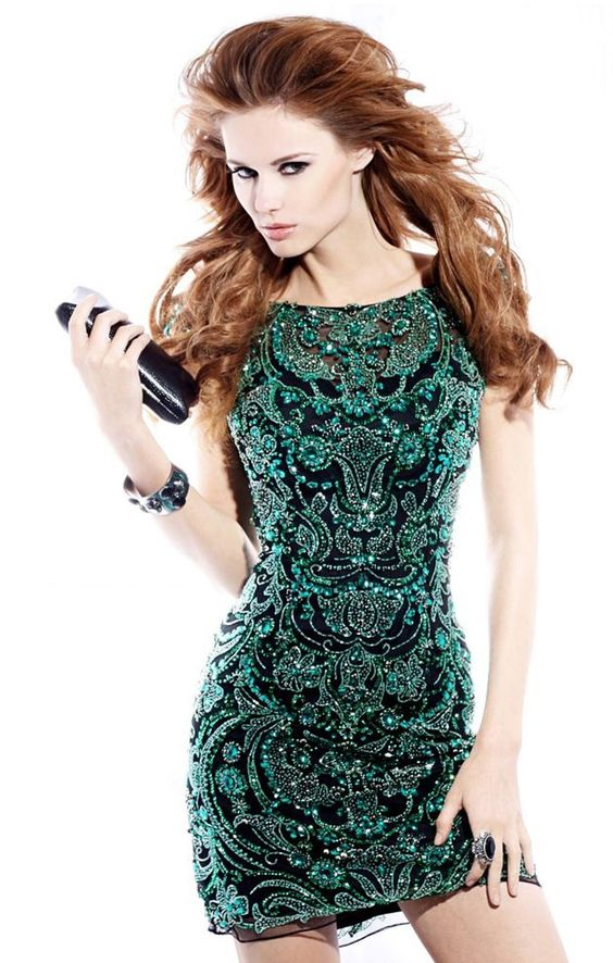 Short Green Cocktail Dresses - Night out- Look at and Green ...