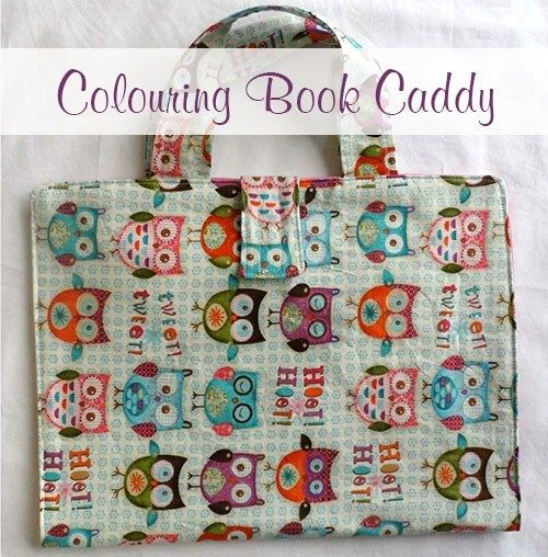 Colouring Book Caddy Sewing Tutorial Sewing Pattern Book Book Caddy Diy Coloring Books