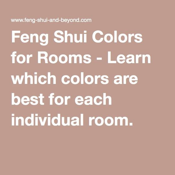 Feng Shui And Beyond: Colors And Feng Shui On Pinterest