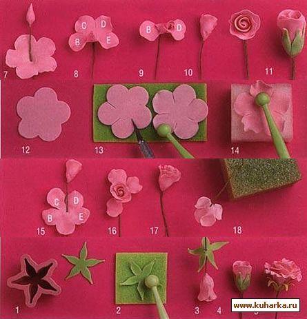 10 способов лепки цветов