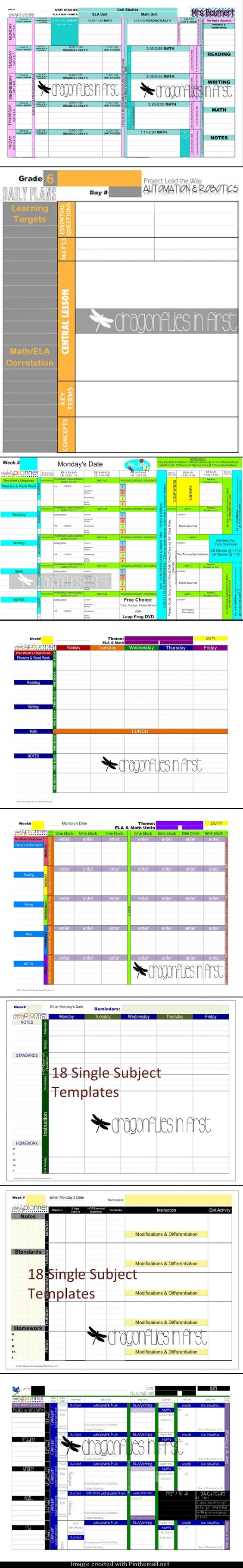 Get organized for the new year digital teacher plan book for Yearly lesson plan template