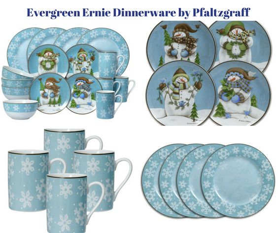 Evergreen Ernie Snowman Dinnerware by Pfaltzgraff