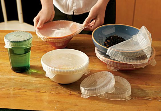 stretchable and reusable silicone lids