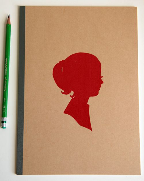 Lady In Red notebook