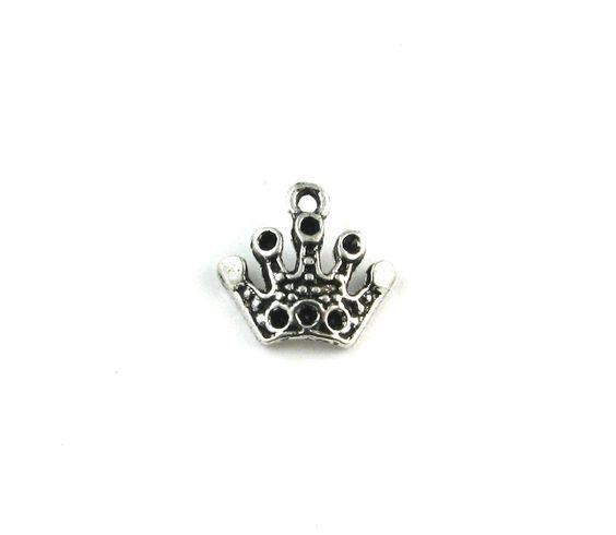 Crown Antique Silver Charm