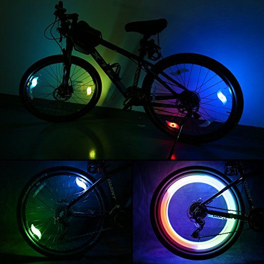 Light Accessories Cycling Bike Led Wheel Spoke Warning Lights Luz Flashlight
