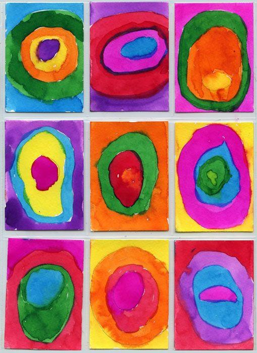 Kandinsky ATC   Art Projects for Kids