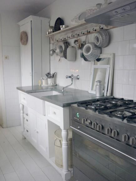 Inrichting brocante keuken Keuken Kitchen Pinterest