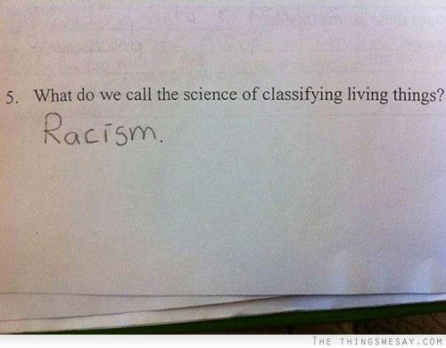 Science Of Classifying Things Funny Answer