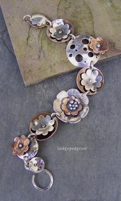 Bracelet |  Stacy Perry - Hodgepodgerie Designs.  Metal Garden Bracelet