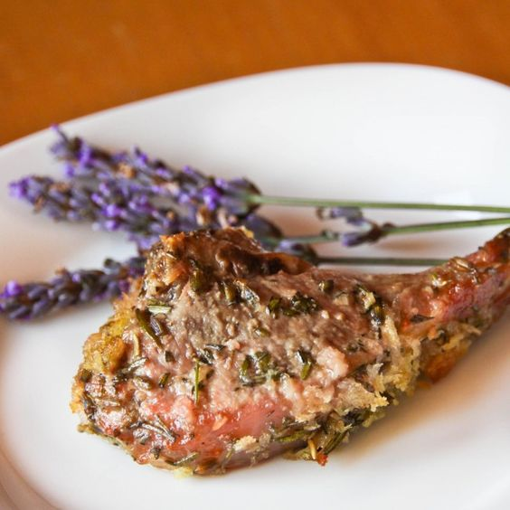 lavender-crusted rack of lamb