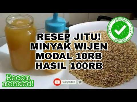 Resep Minyak Wijen Modal 10rb Anti Gagal Youtube Di 2020 Minyak Wijen Memasak Resep