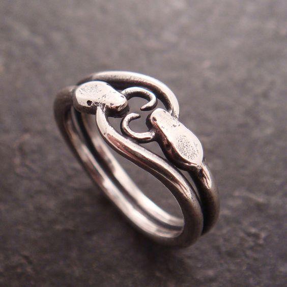 Ring Snake Double Ouroboros