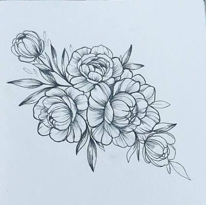 Image Result For Peony Illustration Flower Tattoo Drawings Thigh Tattoo Tattoos