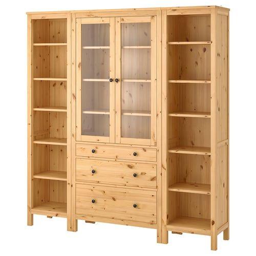 Ikea Hemnes White Stain Storage Combination W Doors Drawers In