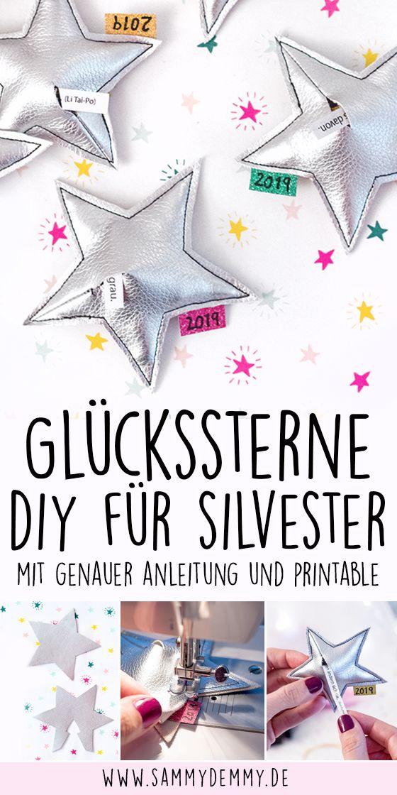 Happy New Year Diy Glücksbringer Glücksbringer Basteln
