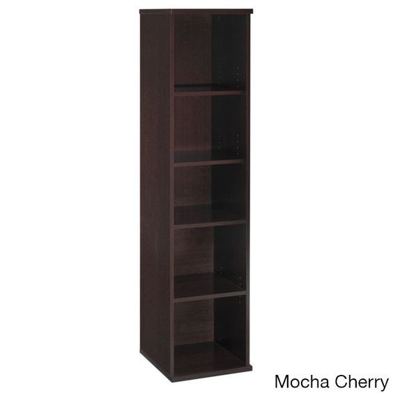 Kathy Ireland by Bush Series C Corsa 5-shelf Bookcase
