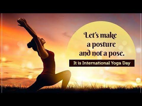 Happy International Yoga Day 2019 Status Youtube Yoga Day International Yoga Day Happy International Yoga Day