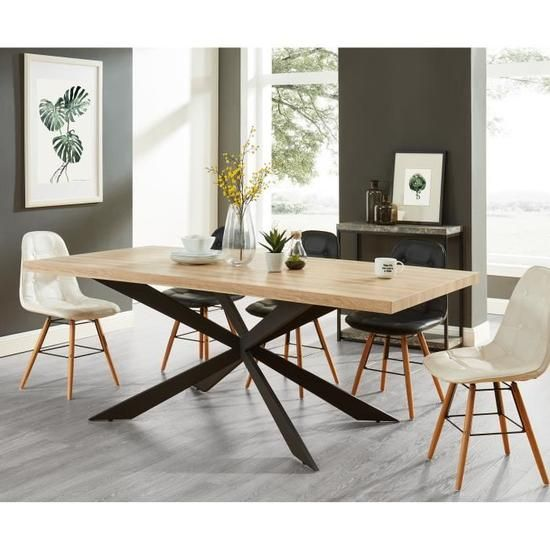 Cdiscount Com Table Salle A Manger Table A Manger Rectangulaire Salle A Manger Style Industriel