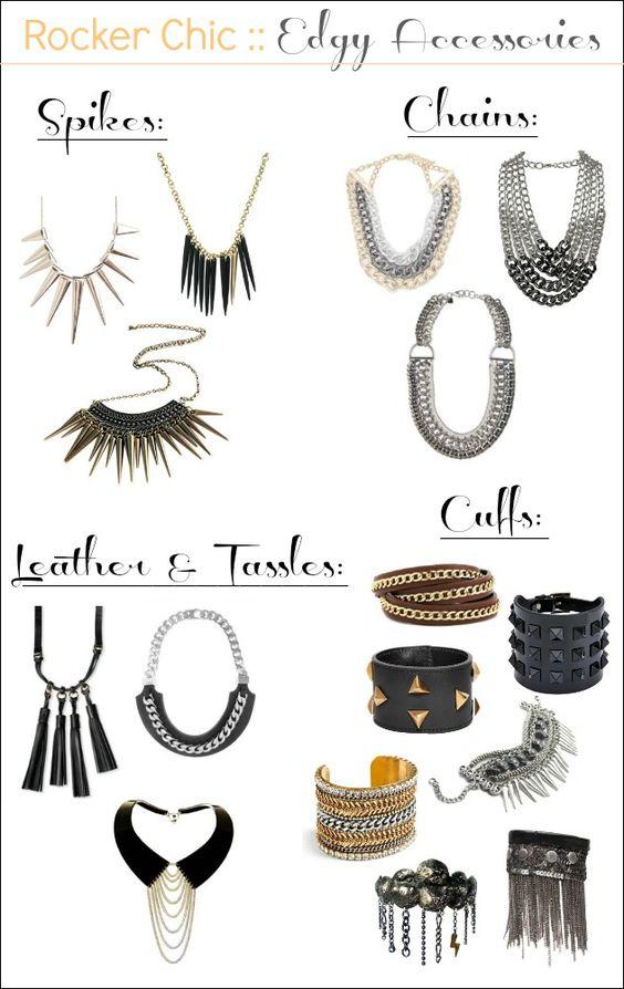 rocker chic: Rocker Chic Style Punk, Accessories Guide, Chic Accessories, Amazing Accessories, Accessories Clairetaylor, Rocker Chick Outfits, Chic Jewelry, Rocker Style
