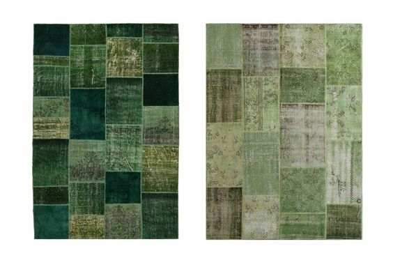 Patchwork and vintage rugs