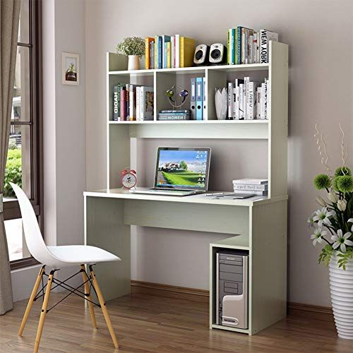Qyn Solid Wood Wide Table Computer Table Desk Bookcase Combination Student Laptop Table Simple Moder Study Table Study Table Designs Painted Bedroom Furniture