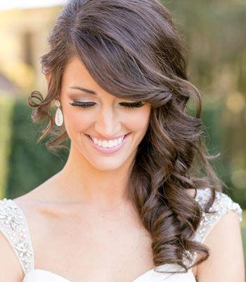 peinado al costado para novia
