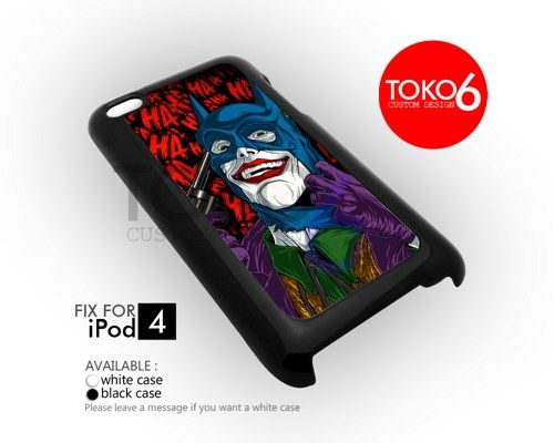 AJ 3873 Joker With Batman Mask - iPod 4 Case | toko6 - Accessories on ArtFire