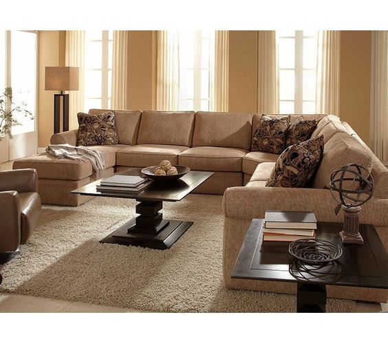 Veronica 6170 Sectional | Quick Ship | Beige Microfiber Http://www. Sofasandsectionals