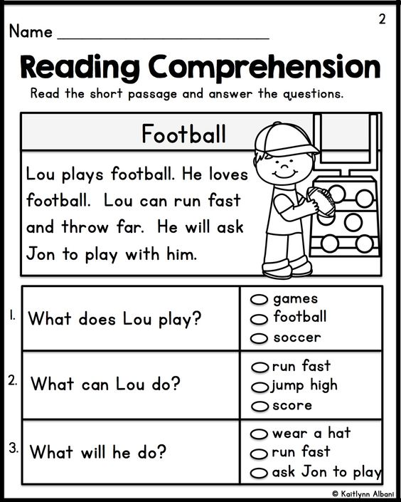 Worksheet Reading Comprehension Worksheets For 1st Grade first grade reading kindergarten and comprehension on simple passages 3 versions included