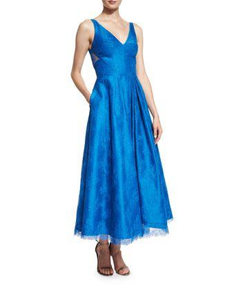 Ml monique lhuillier lace dress neiman marcus