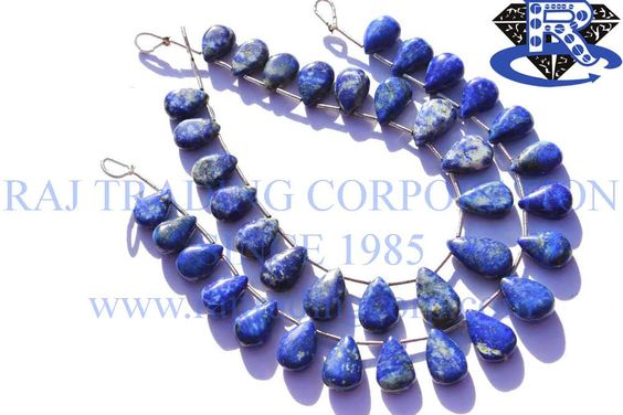 Lapis Lazuli Smooth Pear (Quality B) Shape: Pear Smooth Length: 18 cm Weight Approx: 16 to 18 Grms. Size Approx: 8.5x11 to 9x14 mm Price $30.60 Each Strand