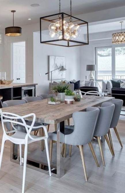 Trendy Kitchen Table And Chairs Ideas Mix Match Ideas Farmhouse Dining Room Modern Farmhouse Dining Room Farmhouse Dining Room Table