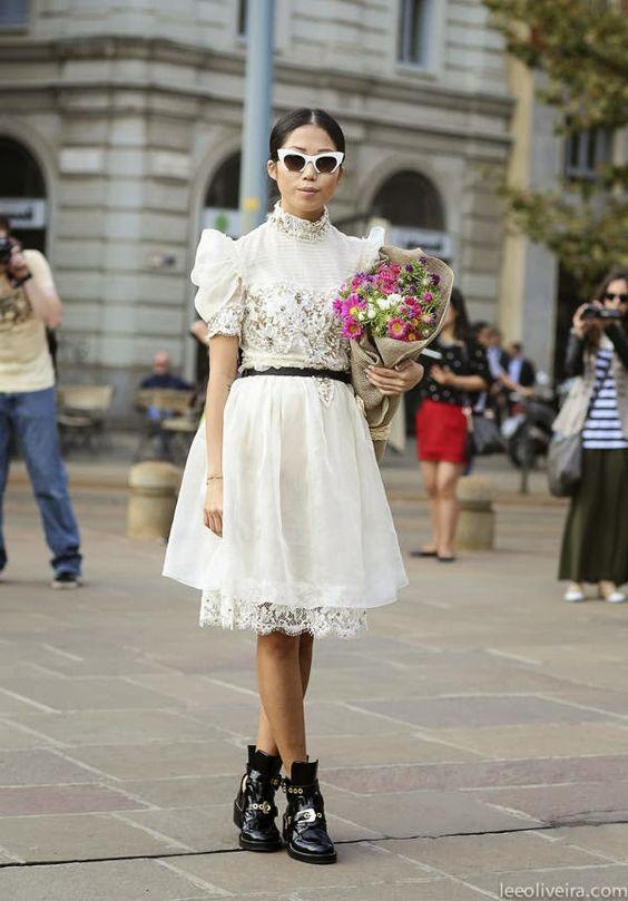 Moda de Rua e Inspirações: Renda - Streetstyle and Inspirations: Lace - Gosto Disto!