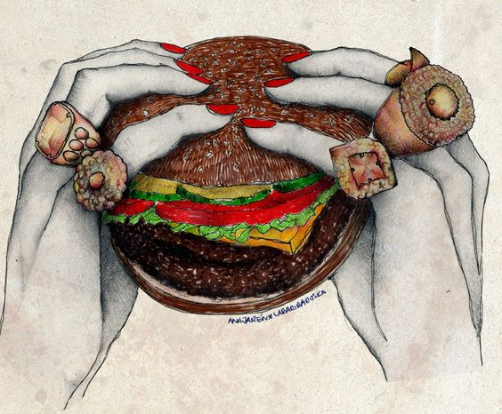 Food Serie: Hamburger  Labaribaruska # Illustration # Ilustración